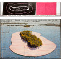 Post-War & Contemporary:Contemporary, CHRISTO (American, b. 1935). Surrounded Islands (Project forBiscayne Bay, Greater Miami, Florida), 1983. Pastel, charco...(Total: 2 Items)