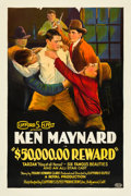 "Movie Posters:Western, $50,000 Reward (Clifford S. Elfelt, 1925). One Sheet (27"" X 41"").. ..."