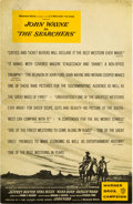 """Movie Posters:Western, The Searchers (Warner Brothers, 1956). Uncut Pressbook (24 Pages, 11"""" X 17"""").. ..."""