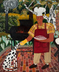 Post-War & Contemporary:Contemporary, DAVID BATES (American, b. 1952). Barbeque, 1982. Oil oncanvas. 96 x 76 inches (243.8 x 193.0 cm). Signed lower right: ...