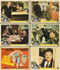 """Movie Posters:Comedy, Air Raid Wardens (MGM, 1943). Title Lobby Card and Lobby Cards (5)(11"""" X 14"""").. ... (Total: 6 Items)"""