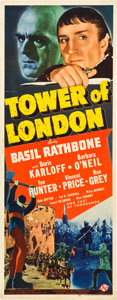 "Movie Posters:Horror, Tower of London (Universal, 1939). Insert (14"" X 36"").. ..."