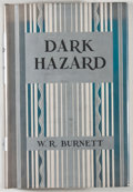 Books:First Editions, W. R. Burnett. Dark Hazard. New York: Harper & Brothers,1933. First edition, first printing. Octavo. 295 pages. Pub...