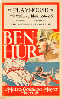 "Ben-Hur (MGM, 1925). Window Card (14"" X 22"")"