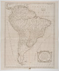 Antiques:Posters & Prints, Thomas Kitchin. Map of the European Settlements of SouthAmerica. London: T. Cadell, 1783. 18.5 x 15.75 inches. Mild...