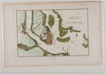 Antiques:Posters & Prints, Hand-Colored Map of Charlestown. From Marshall's Life of GeorgeWashington. [ca. 1807]. Measures 11 x 17 inches. Fold li...