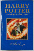 Books:Children's Books, J. K. Rowling. Harry Potter and the Half-Blood Prince.London: Bloomsbury, [2005]. First U.K. deluxe edition. Oc...