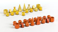 Other, MAN RAY (American, 1890-1976). Chess set (in 32 parts), 1920-1946. Anodized aluminum. The King: 2 x 1 x 1 inches (5.1 x ...