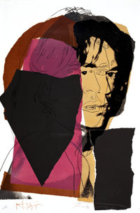 ANDY WARHOL (American, 1928-1987) Mick Jagger, 1975 Screenprint on paper 43-1/2 x 29 inches (110