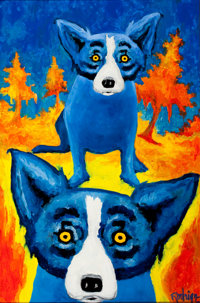 GEORGE RODRIGUE (American, b. 1944) Can't Get you off my Mind, 1992 Oil and acrylic on canvas 36