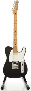 Musical Instruments:Electric Guitars, 1988 Fender Telecaster Black Solid Body Electric Guitar, Serial#E803975....