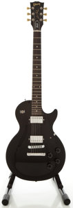 Musical Instruments:Electric Guitars, 1989 Gibson Les Paul Studio Black Solid Body Electric Guitar,Serial #80529608....