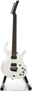 Musical Instruments:Electric Guitars, Parker Fly Pearl White Solid Body Electric Guitar, Serial #153097BP USA....