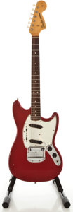 Musical Instruments:Electric Guitars, 1966 Fender Mustang Red Solid Body Electric Guitar, Serial#138294....