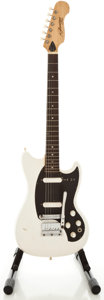 Musical Instruments:Electric Guitars, 1960's Kalamazoo Melody Maker Style White Solid Body ElectricGuitar, Serial #554510....
