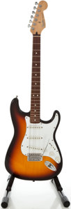 Musical Instruments:Electric Guitars, 1995 Fender Stratocaster MIM Sunburst Solid Body Electric Guitar,Serial #MN5171109....