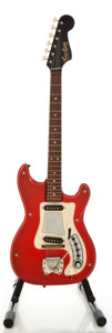 Musical Instruments:Electric Guitars, 1960's Hagstrom I Red Solid Body Electric Guitar, Serial#620205....
