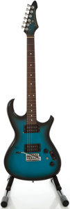 Musical Instruments:Electric Guitars, 1980's Aria Pro II Blue Solid Body Electric Guitar, Serial#3040764....