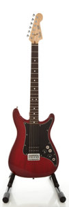Musical Instruments:Electric Guitars, 1981 Fender Lead 1 Trans Red Solid Body Electric Guitar, Serial#E110041....