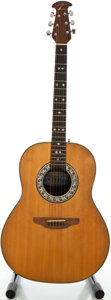 Musical Instruments:Acoustic Guitars, 1980's Ovation 1112 Natural Acoustic Guitar, Serial #254214....