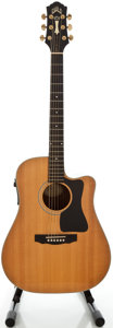 Musical Instruments:Acoustic Guitars, 1990's Guild DC5NT Natural Acoustic Electric Guitar, Serial#FC051561....