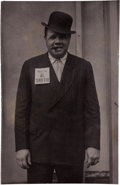 Political:Miscellaneous Political, Al Smith: Real Photo Babe Ruth Postcard....