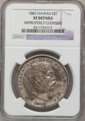 Coins of Hawaii: , 1883 $1 Hawaii Dollar--Improperly Cleaned-- NGC Details. XF. NGCCensus: (48/223). PCGS Population (121/383). Mintage: 500,...