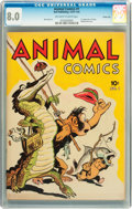 Golden Age (1938-1955):Funny Animal, Animal Comics #1 Carson City pedigree (Dell, 1942) CGC VF 8.0Off-white to white pages....