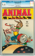 Golden Age (1938-1955):Funny Animal, Animal Comics #9 (Dell, 1944) CGC NM 9.4 Cream to off-whitepages....
