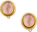 Estate Jewelry:Earrings, Glass, Gold Earrings, Elizabeth Locke. ...