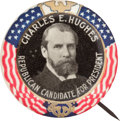 Political:Pinback Buttons (1896-present), Charles Evans Hughes: Colorfully Designed Button....