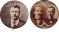 Political:Pinback Buttons (1896-present), Theodore Roosevelt and Alton B. Parker: Two Sepia Buttons.... (Total: 2 Items)