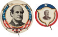Political:Pinback Buttons (1896-present), William Jennings Bryan: Two Unusual Buttons.... (Total: 2 Items)