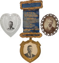 Political:Ribbons & Badges, Theodore Roosevelt: Three Unusual Items.... (Total: 3 Items)