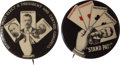 """Political:Pinback Buttons (1896-present), Theodore Roosevelt: """"Stand Pat!"""" Pair.... (Total: 2 Items)"""