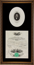 Autographs:U.S. Presidents, Abraham Lincoln: Choice 1861 Naval Appointment....