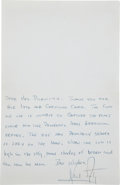 Autographs:Celebrities, Neil Armstrong 1969-Dated Autograph Note Signed with OriginalHand-Addressed Envelope. ... (Total: 2 Items)