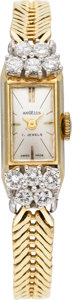Estate Jewelry:Watches, Angelus Diamond, Gold Lady's Wristwatch, circa 1960. ...