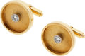 Estate Jewelry:Cufflinks, Diamond, Gold Cuff Links. ...