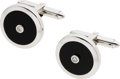 Estate Jewelry:Cufflinks, Diamond, Black Onyx, White Gold Cuff Links. ...