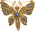 Estate Jewelry:Brooches - Pins, Diamond, Sapphire, Ruby, Gold, Silver Brooch. ...