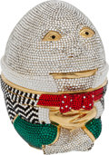 Luxury Accessories:Bags, Judith Leiber Full Bead Multicolor Humpty Dumpty Minaudiere EveningBag. ...