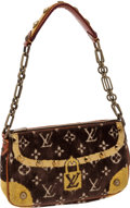 Luxury Accessories:Bags, Louis Vuitton Trompe de L'Oeil Velour & Alligator Pochette Bag,Retail ~$3000. ...