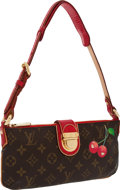 Luxury Accessories:Bags, Louis Vuitton Runway Monogram Cerises Red Lizard Pochette Bag. ...