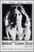 """Movie Posters:Adult, Behind the Green Door (Mitchell Brothers Film Group, 1972). One Sheet (24"""" X 36""""). Adult.. ..."""