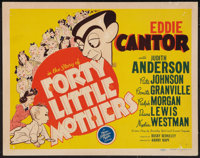 """Forty Little Mothers (MGM, 1940). Title Lobby Card (11"""" X 14""""). Comedy"""
