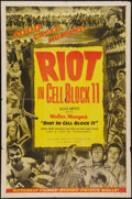 """Movie Posters:Drama, Riot in Cell Block 11 (Allied Artists, 1954). One Sheet (27"""" X 41""""). Drama.. ..."""