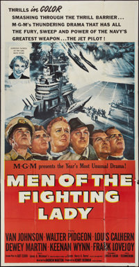 """Men of the Fighting Lady & Other Lot (MGM, 1954). Three Sheet (41"""" X 81"""") & One Sheet (27"""" X 41&q..."""