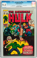 Bronze Age (1970-1979):Superhero, The Incredible Hulk #128 (Marvel, 1970) CGC NM- 9.2 Off-white to white pages....
