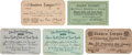 Baseball Collectibles:Others, 1918-28 Baseball Season Passes Including Two Early Yankees Examples....